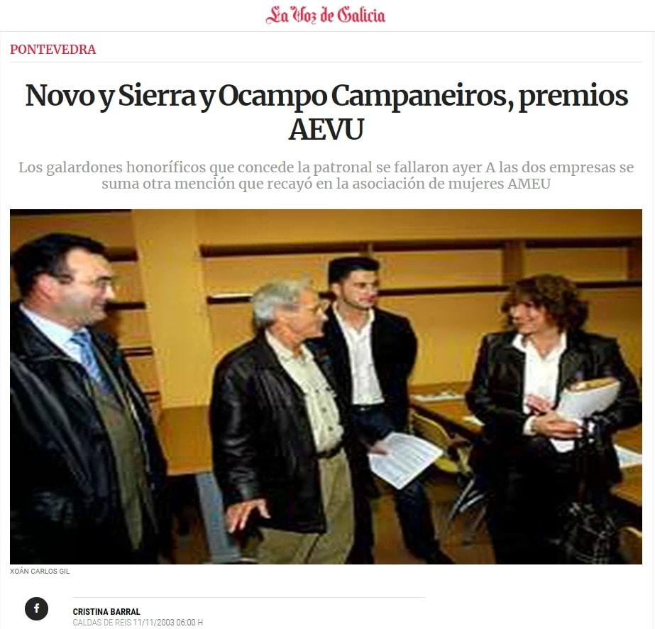 Captura de la noticia en la web de La Voz de Galicia