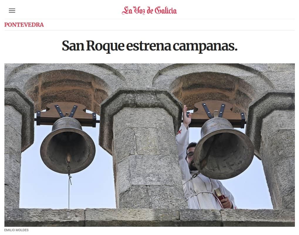 Campanas capilla de San Roque, Pontevedra