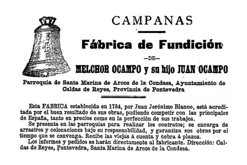 Publicidad de Melchor Ocampo e hijo